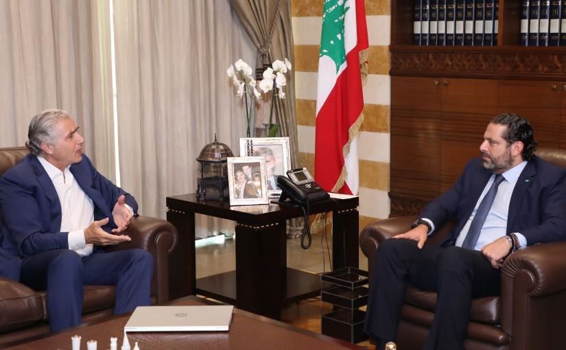 Pr Minister Saad Hariri meets Mr Jamal Itani