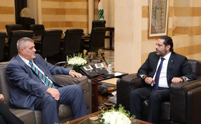 Pr Minister Saad Hariri meets Mr Jean Kubiss