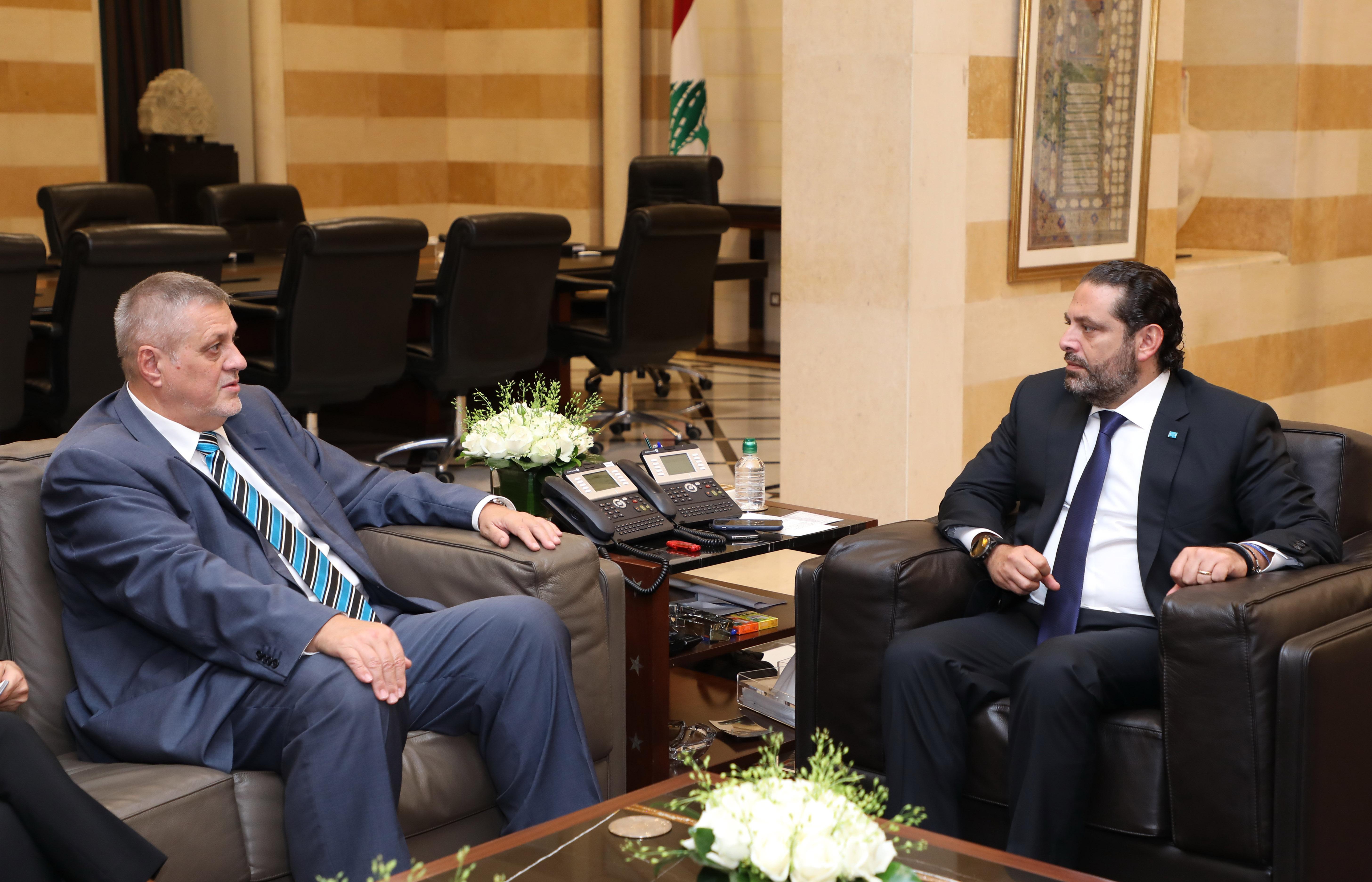 Pr Minister Saad Hariri meets Mr Jean Kubiss 1