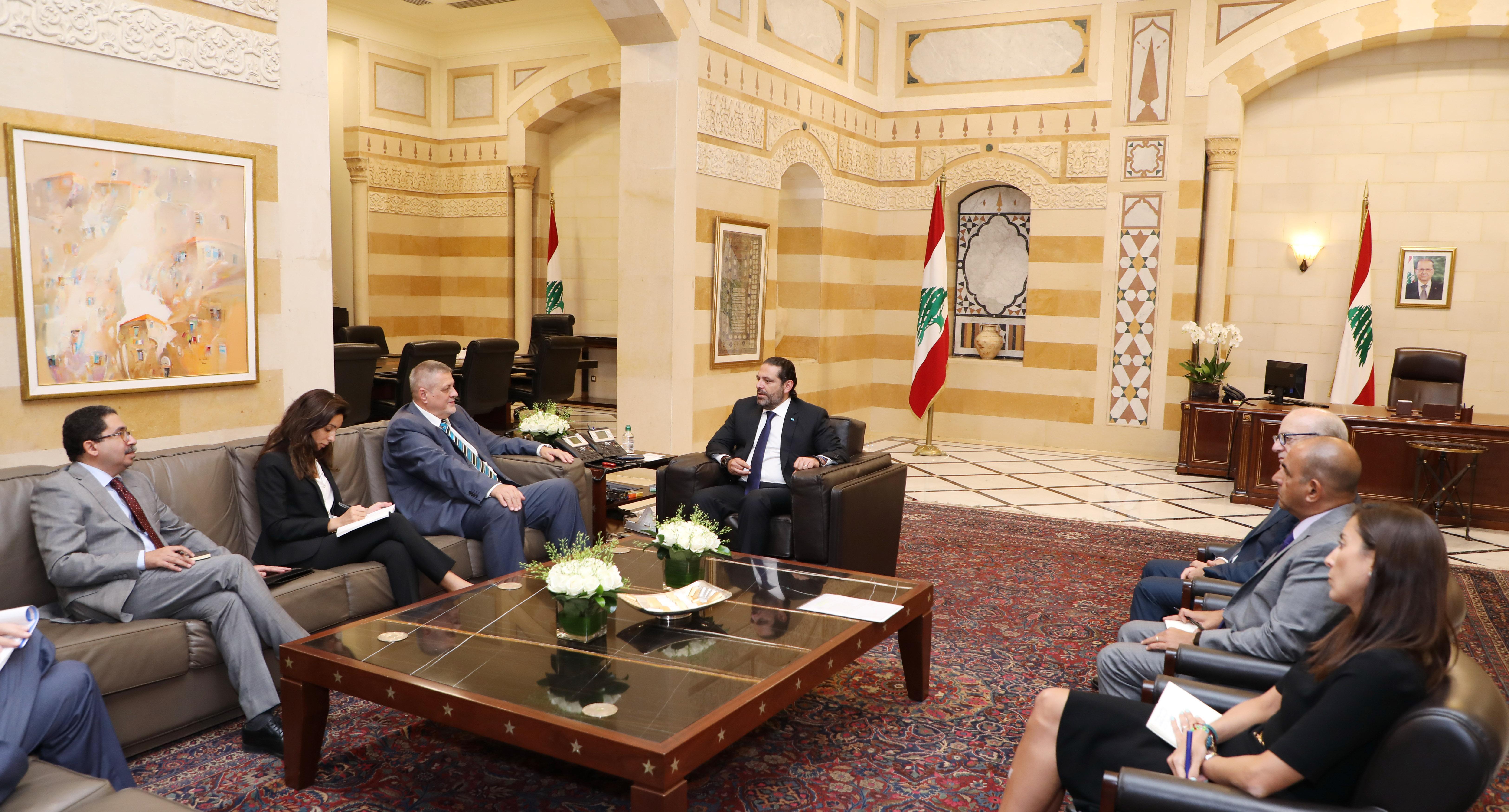 Pr Minister Saad Hariri meets Mr Jean Kubiss 2