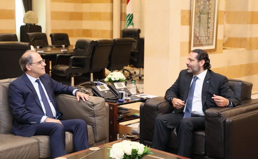 Pr Minister Saad Hariri meets Mr Jihad Azour