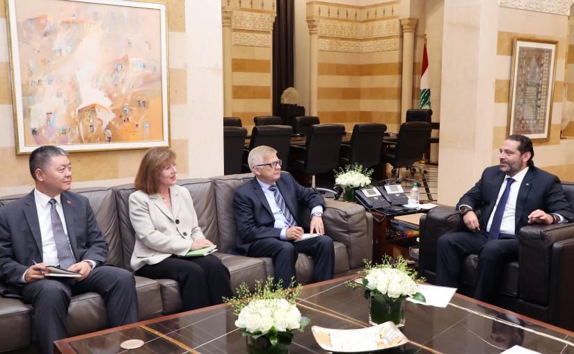 Pr Minister Saad Hariri meets Russian & US & Chinese Ambassador