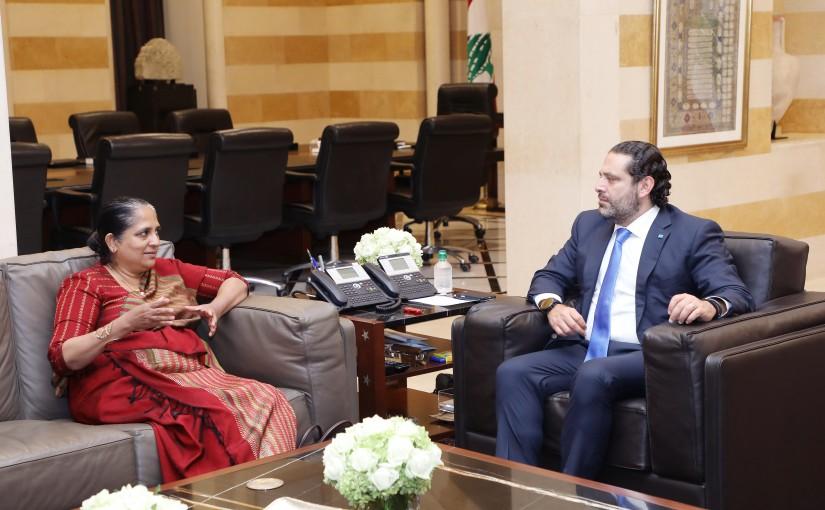 Pr Minister Saad Hariri meets Sri Lanka Ambassador