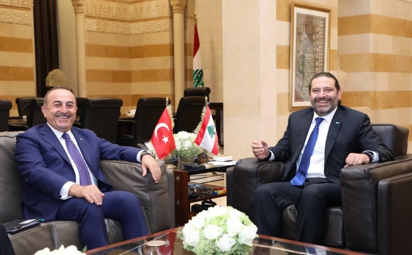 Pr Minister Saad Hariri meets Turkish Minister of Foreign Affairs