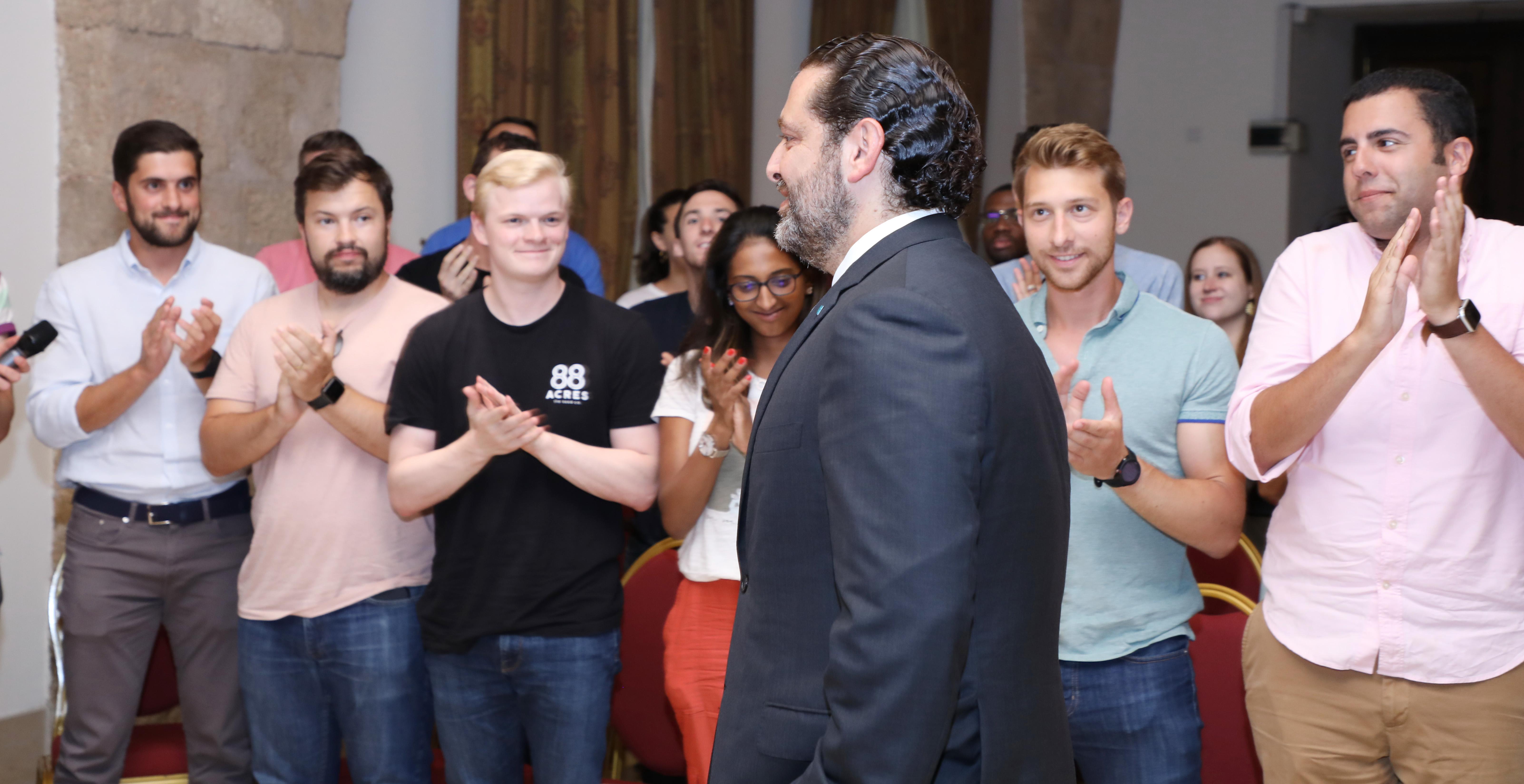 Pr Minister Saad Hariri meets a Delegation from Harvard Students 4