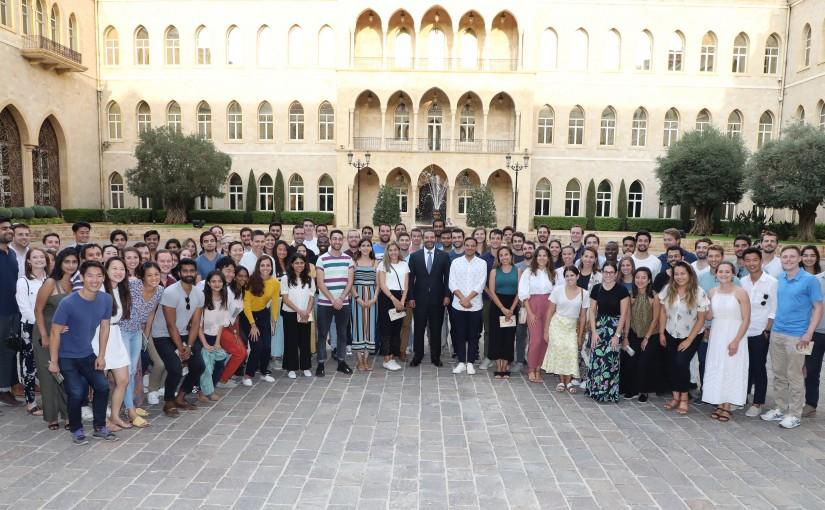 Pr Minister Saad Hariri meets a Delegation from Harvard Students 5
