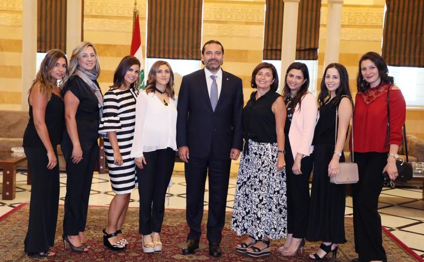Pr Minister Saad Hariri meets a Delegation from Saida Festival