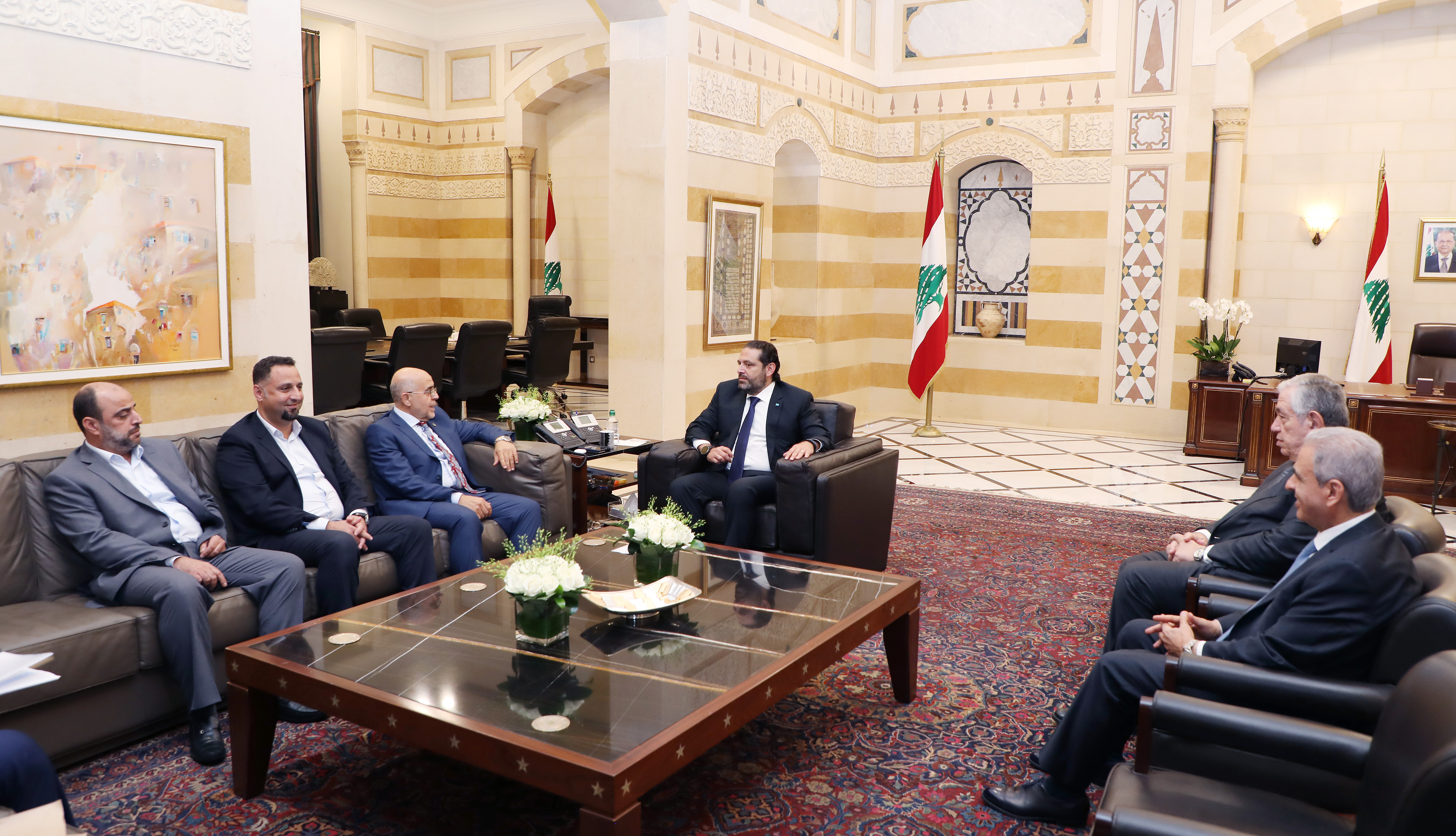 Pr Minister Saad Hariri meets a Delegation from Tripoly Municipality