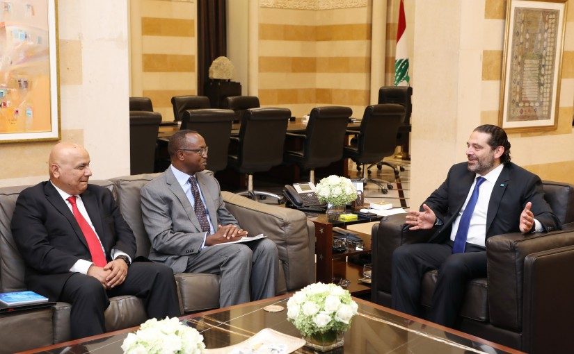 Pr Minister Saad Hariri meets a Delegation from World Bank