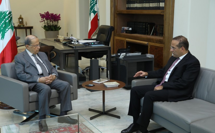 President Michel Aoun Meets Former Minister Raed Khoury