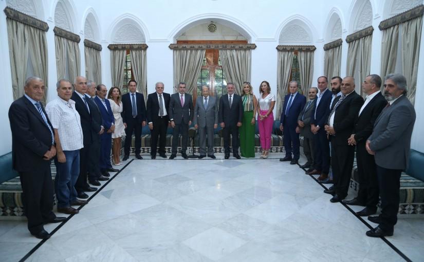 President Michel Aoun Meets a Delegation From Serjbel