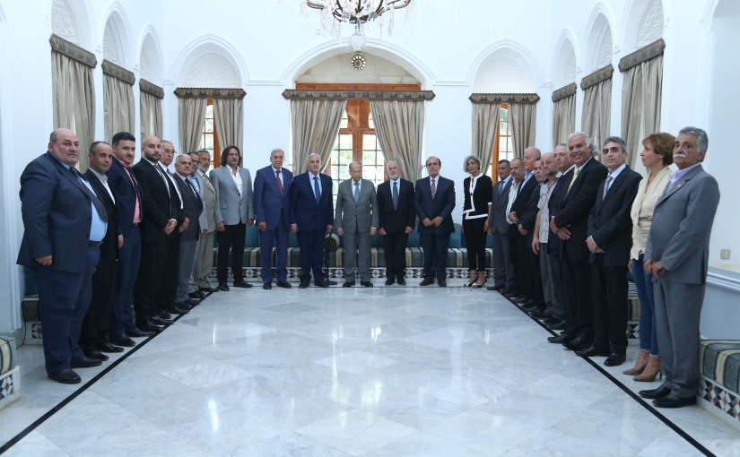 President Michel Aoun Meets a Delegation From The Syrian Social Nationalist Party