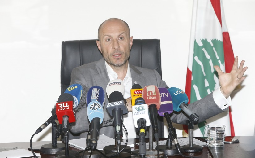 Press Conference for Minister Fady Jraysati
