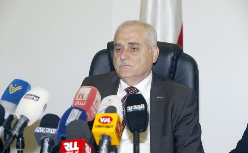 Press Conference For Miinister Jamil Jabak