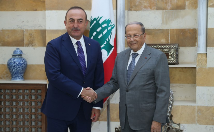 President Michel Aoun Meets Turkish Minister of Foreign Affairs Jawish Oglo