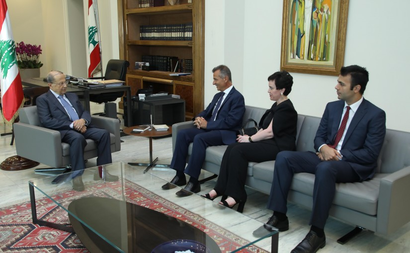 President Michel Aoun Meets The Family of The Late Journalist Walid Awad