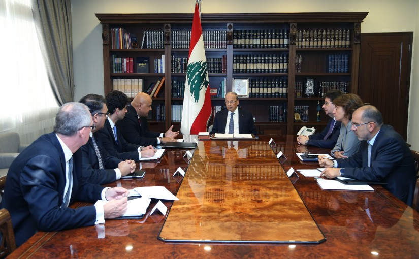 President Michel Aoun Meets a Delegation From World Bank