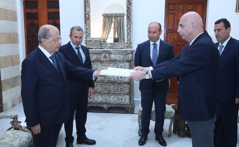 President Michel Aoun Meets Georgia Ambassador