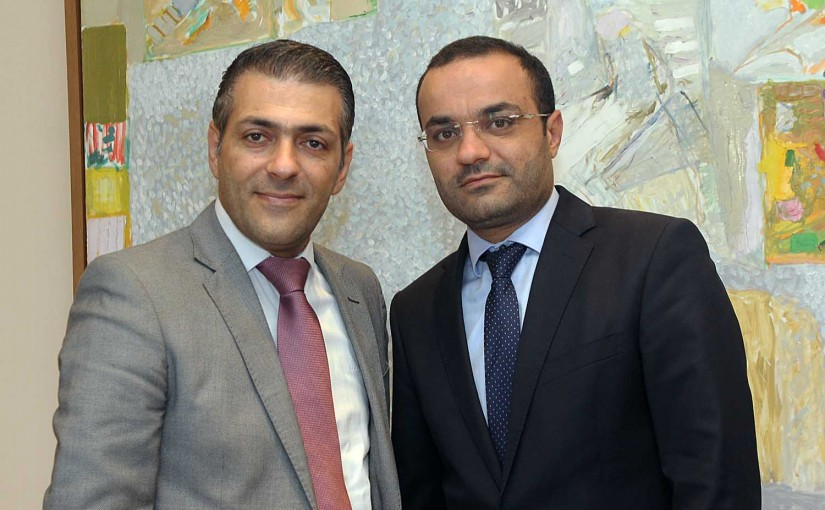 Minister Mouhamad Daoud Daoud meets Mr Mouhamad Daber
