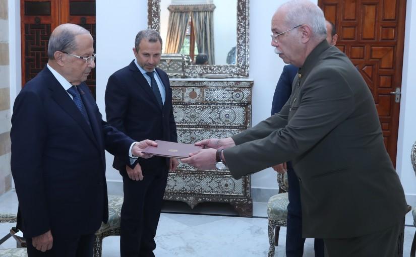 President Michel Aoun Meets Venezuela Ambassador