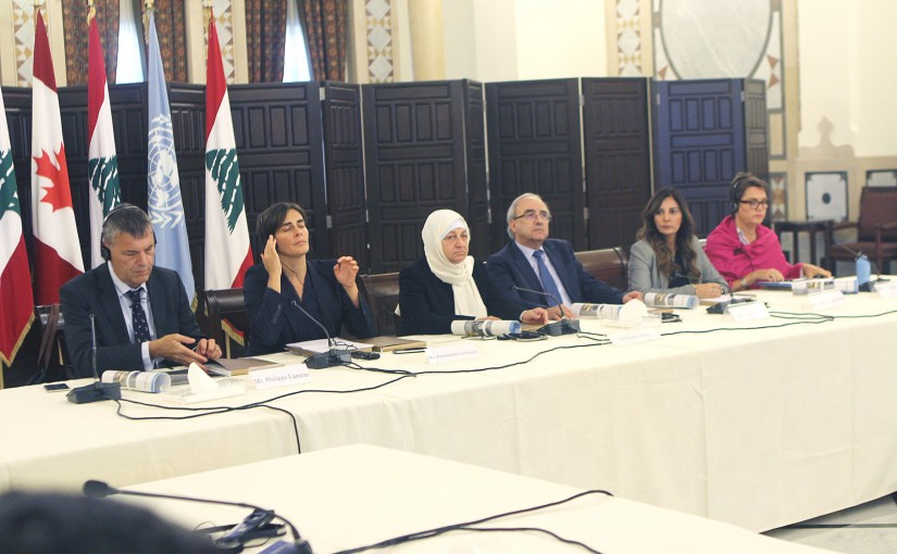 MP Bahiya Hariri Attends a Conference at the Grand Serail
