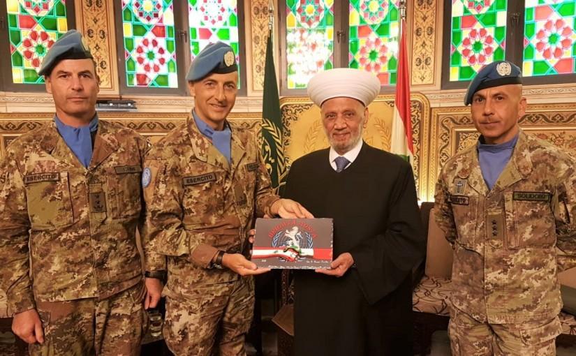 Grand Mufti Abdel Latif Derian Meets Major General Stefano Del Col