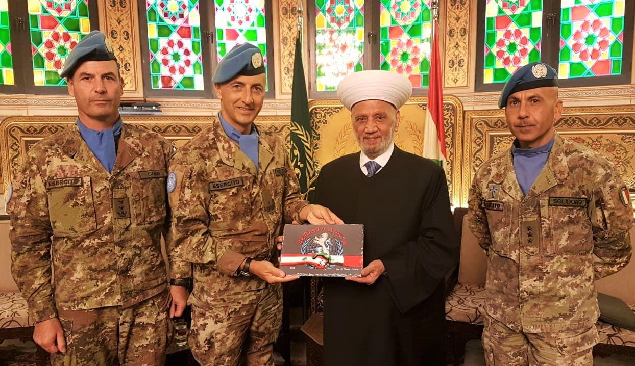 المفتي دريان مع قائد القطاع الغربي لقوات اليونيفيل  في الجنوب 23-9-2019م