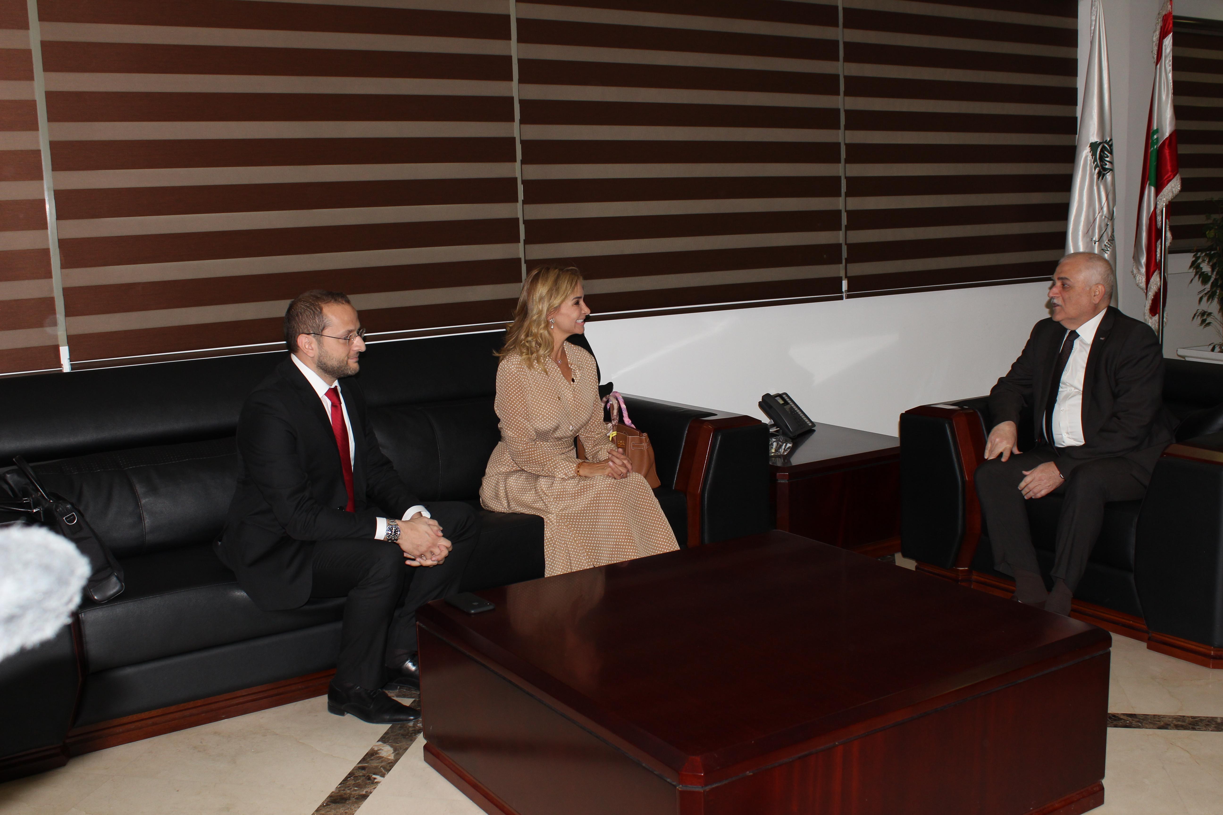 الوزير جبق وسفيرة سويسرا
