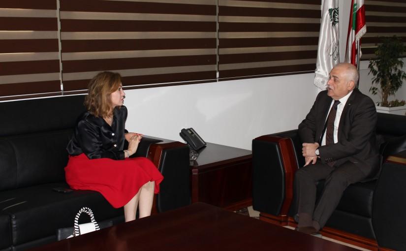 Minister Mohamad Jaback Meets MP Dima jamali
