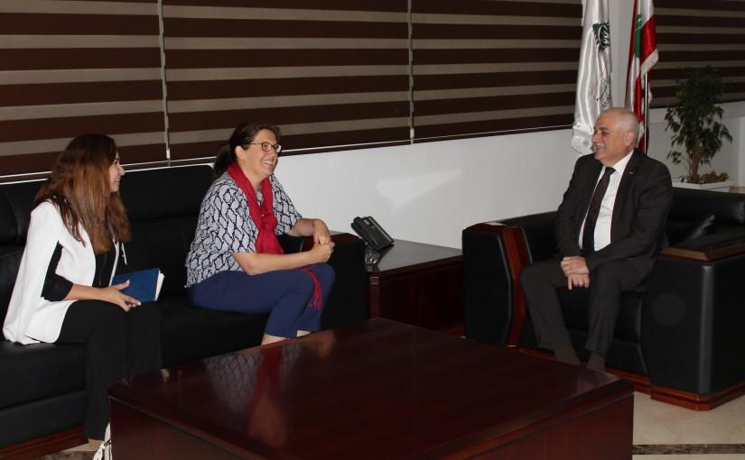 Minister Mohamad Jaback Meets mrs. Celine Moyouk