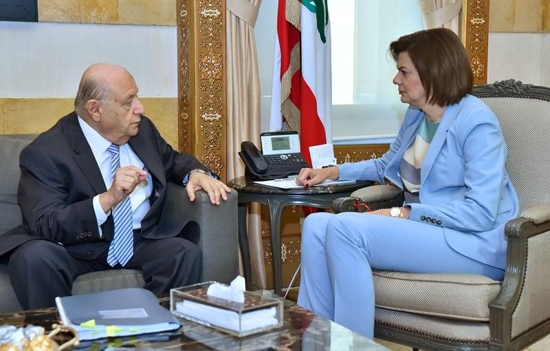 Minister Raya El Hassan Meets Former MP Neamet Allah Abi Naser