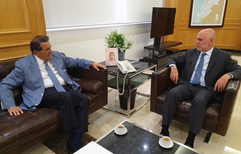 Minister Youssef Fenianos Meets Former MP Boutros Harb