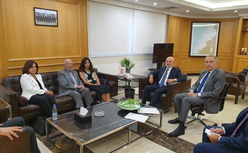 Minster Youssef Fenianos Meets a Delegation from St Jude Cancer Center