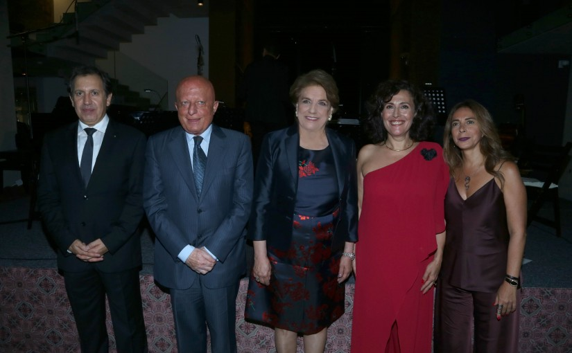The First Lady Nadia  Aoun Attends an Exhibition at Nabu Musuem