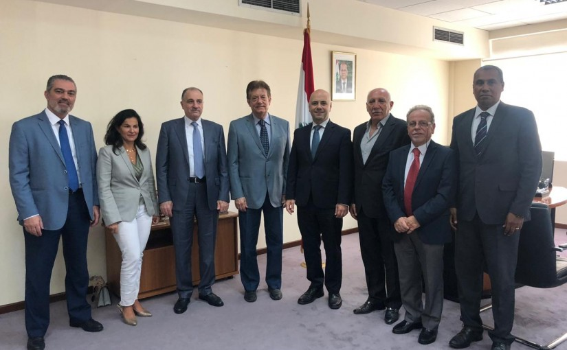 Deputy Pr Minister Ghassan Hasbani Meets a Delegation from Hospitals Syndicate