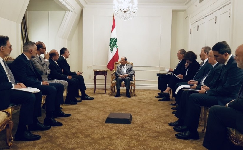 President  Michel Aoun Meets a Delegation from American Task Force For Lebanon