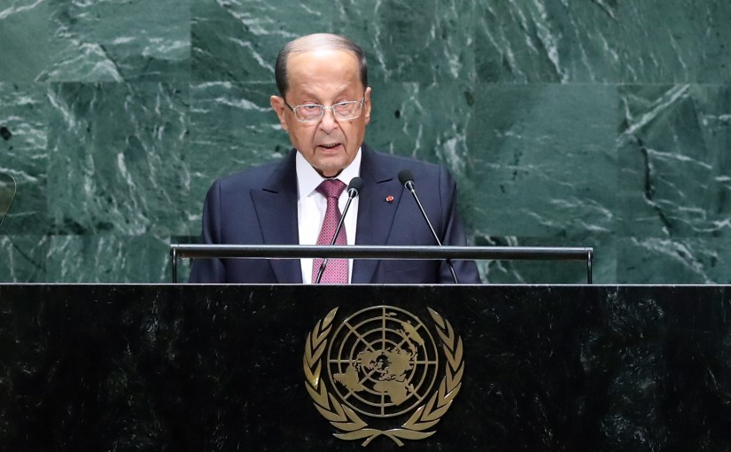 The Address of President Michel Aoun at the General Assembly in the United Nations