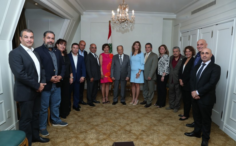 President Michel Aoun Meets a Delegation From Lebanese American Council For Democracy LACD