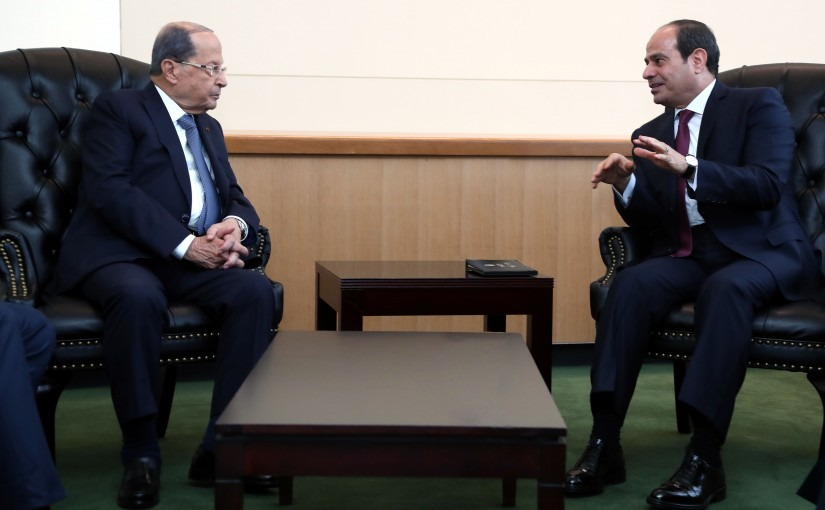 President Michel Aoun Meets Egyptian President Abdel Fatah El Sisi