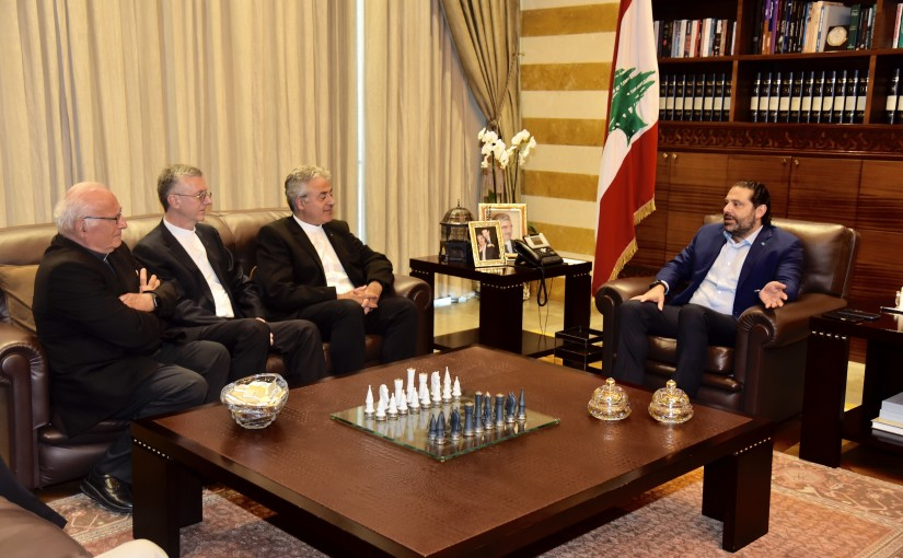 Pr Minister Saad Hariri meets Father Doni Mayer with a Delegation