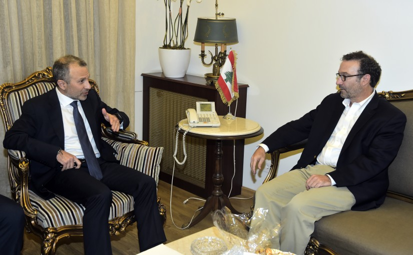 Minister Gebran Bassil meets a US Delegation