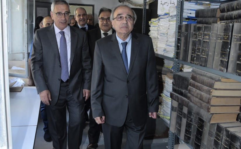 Minister Albert Serhan Visits the Archives of the Ministry of Justice