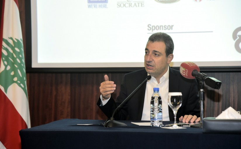 Minister Wael abou Faour Attends a Conference at Hilton Beirut