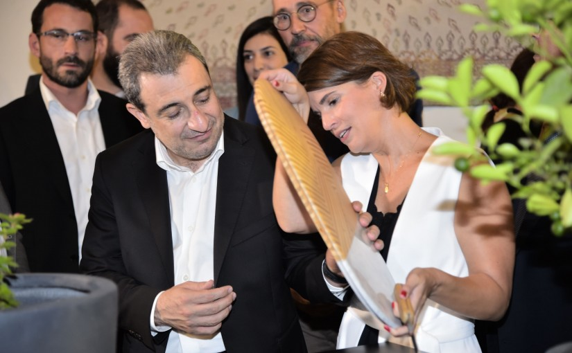 "Launch of two ""Carpentry"" furniture sets, at the invitation of the European Union and Expertise France under the auspices of the Minister Wael Abou Faour"