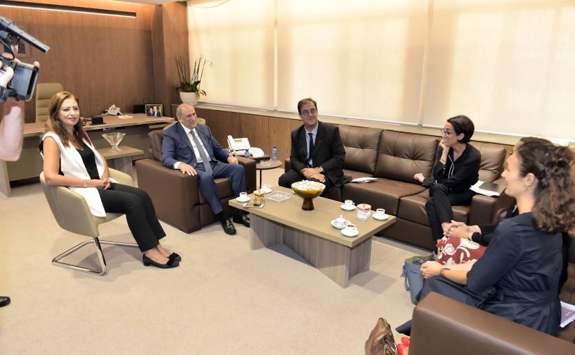 Minister Jamal Jarrah meets French Ambassador