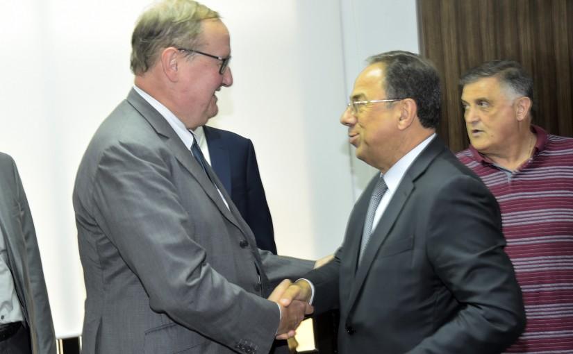 Minister Mansour Bteich meets Mr Pierre Dukan