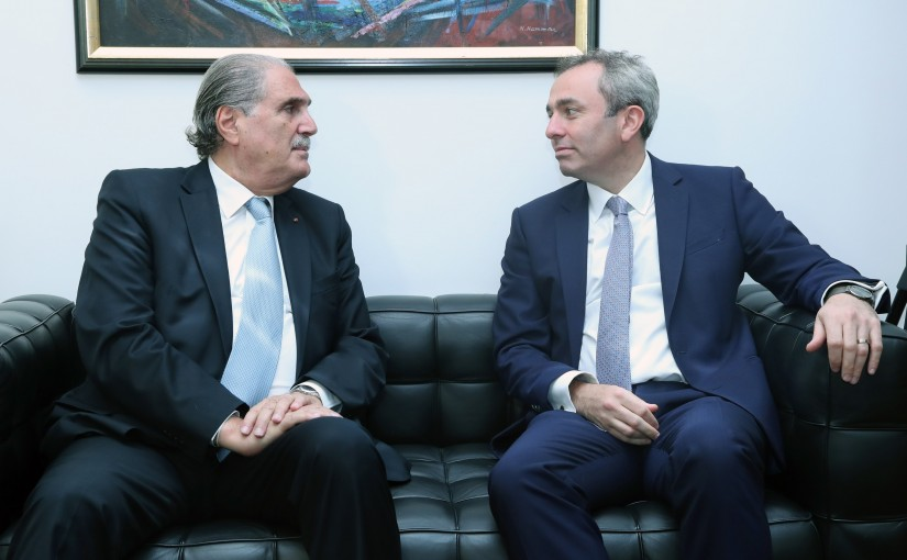 Minister Selim Jreysati Meets British Ambassador