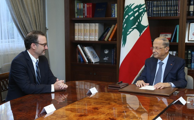 President Michel Aoun Meets US Assistant Secretary of Near Eastern Affairs David Schenker