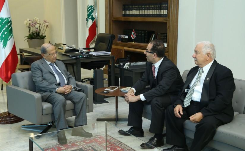 President Michel Aoun Meets Dr Ghabi Doumit & Mr Doumit Doumit