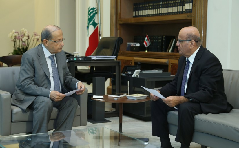 President Michel Aoun Meets Personal Representative to the International Francophone Organization Dr Jarjoura Hardan